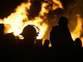 Возгорание на северо-востоке Москвы