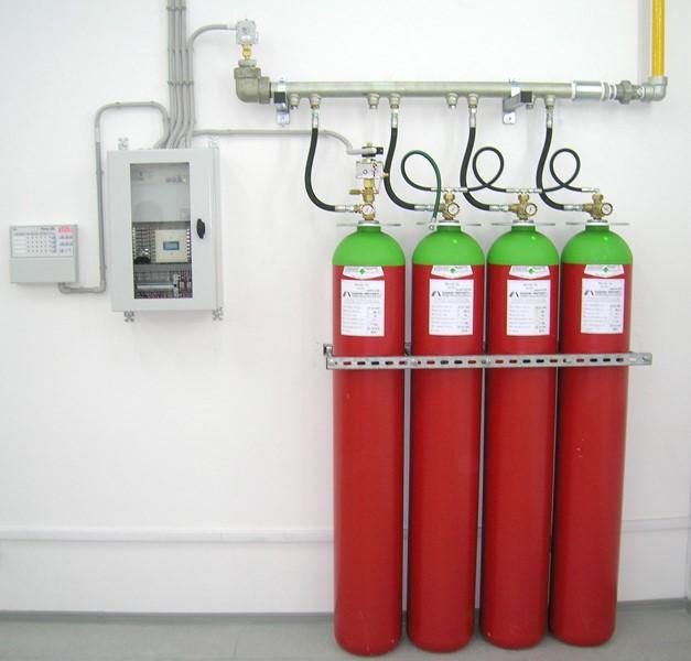 Газовые установки пожаротушения