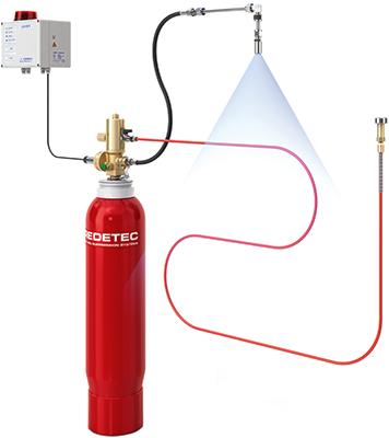 установка пожаротушения